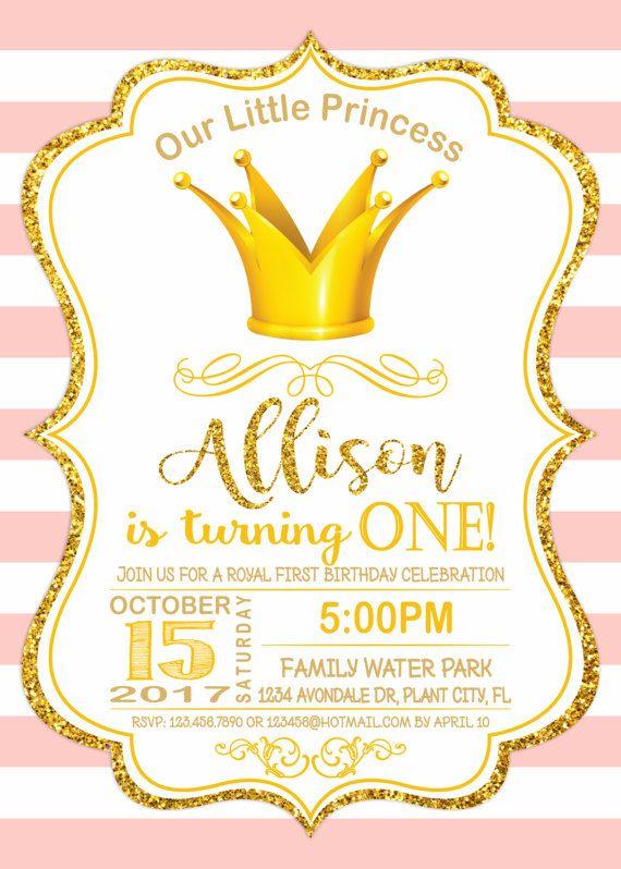 PRINCESS BIRTHDAY INVITATION Princess Invitation
