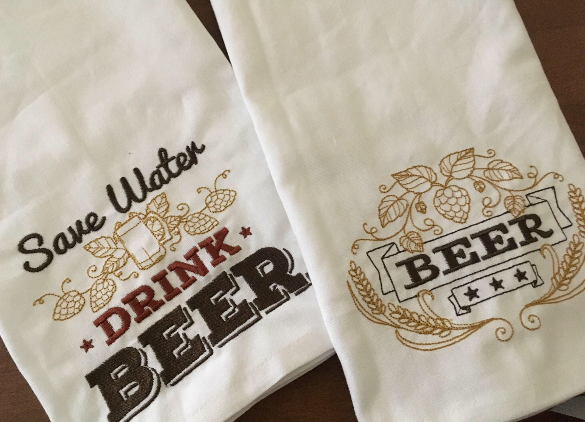 Craft Beer Kitchen Bar Towels Set of TWO