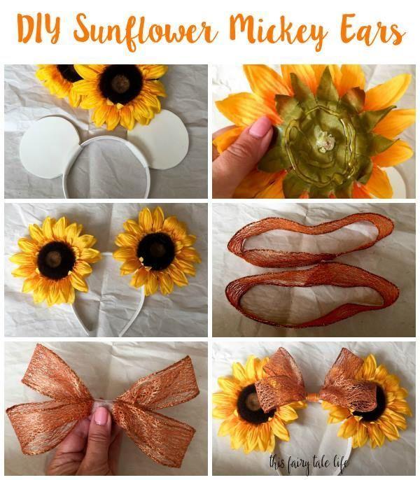 DIY Sunflower Mickey Ears - This Fairy Tale Life