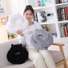 35cm Kawaii Shadow Cat Plush Nap Pillow Kawaii Plush Cat Toys Kids Gift Doll