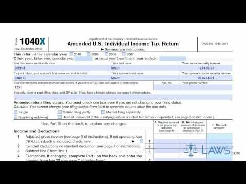 learn how to fill the form 1040x amended u.s. individual income tax