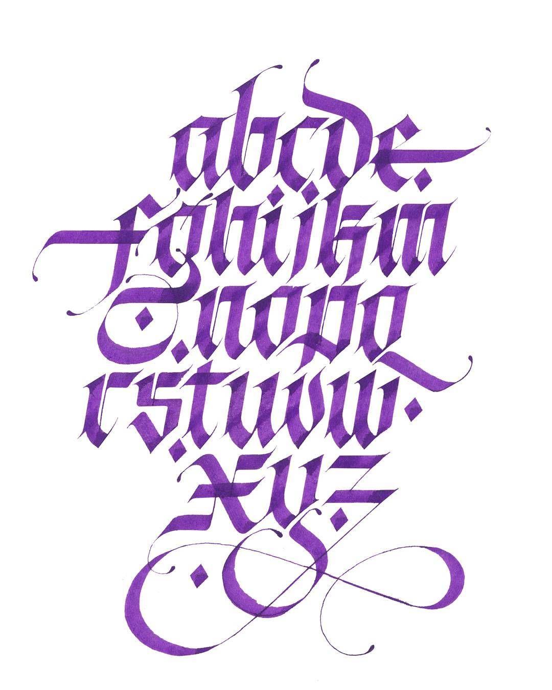 Purple Alphabets Loveletters Instagood Instatype Calligraphymasters Calligraphy Calligraffiti Calligraphyph Calligraphyart Goodtype