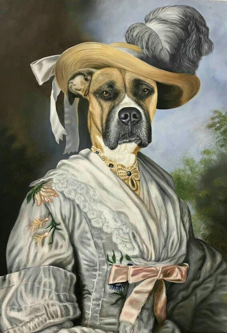 I painted a redditors pup in pride prejudice httpift