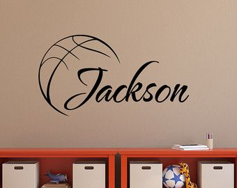 Elegant Baseball Name Wall Decal Boy Baseball Personalized Decal Boy