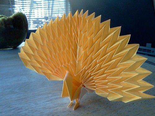 Origami Peacock Designed By Jun Maekawa