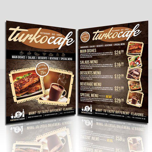 Cafe  Restaurant Flyer By Fatihakdemir On Creativemarket