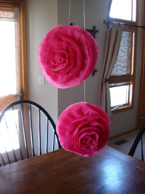 Crepe paper streamer flowers party decor pinterest crepe paper crepe paper streamer flowers mightylinksfo