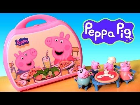 Peppa Pig Pizzeria Playset Pizza Shop Carry Case Playdoh Chef Peppa Nickelodeon Disneycollector Peppa Pig Toys Play Doh Kitchen Peppa Pig
