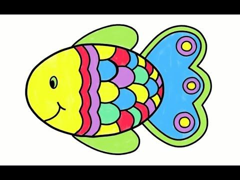 How To Draw Fish Drawing Coloring Fish Learn To Painting For Kids Fish Drawings Drawn Fish Learn To Paint