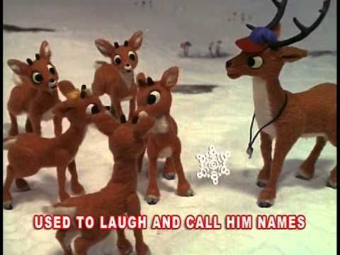 Rudolph The Red Nosed Reindeer Sing Along With Lyrics Reindeer Song Rudolph The Red Red Nosed Reindeer