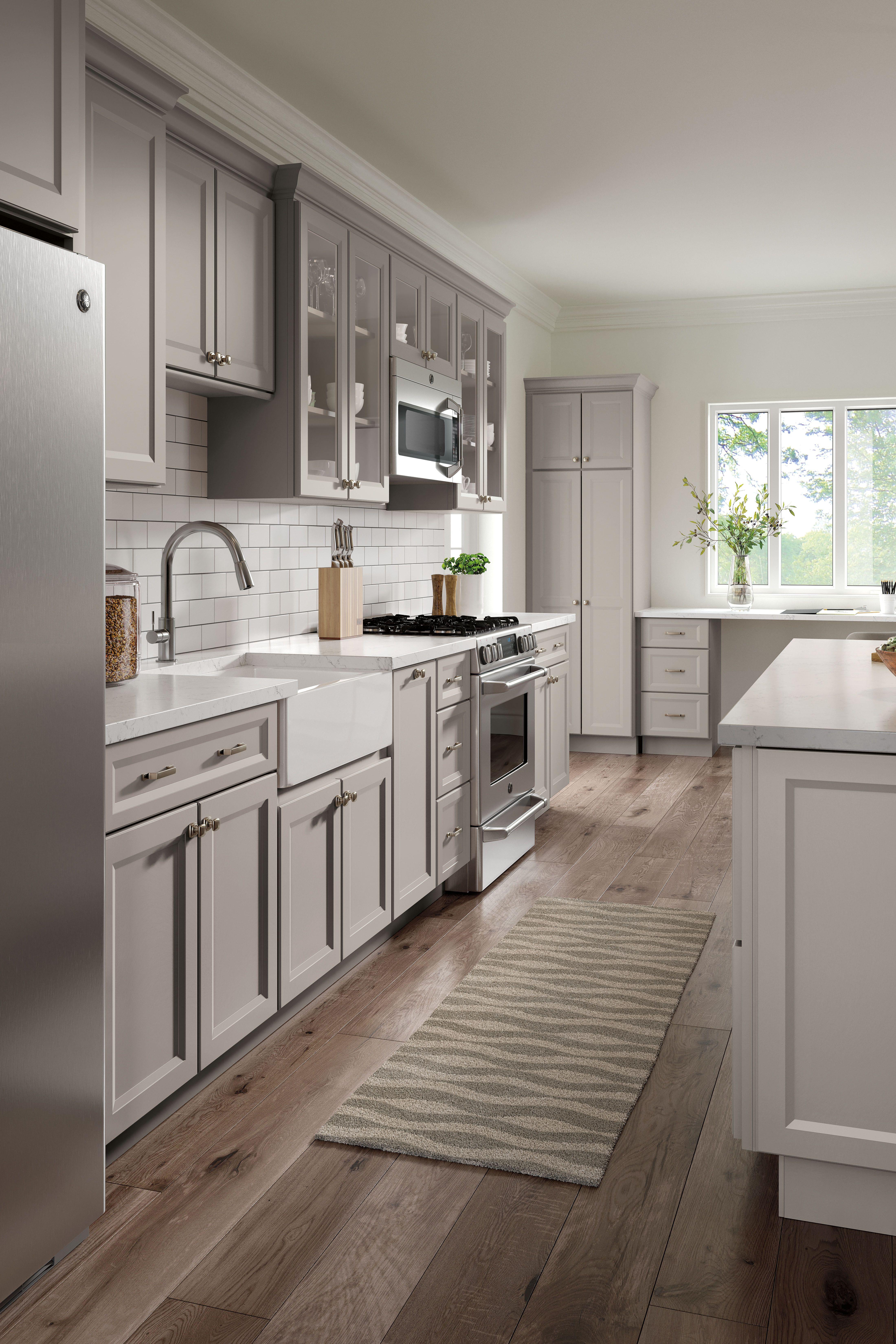 Gray Transitional Kitchen In 2020 Kitchen Remodel Small Kitchen Design Diy Kitchen Cabinets
