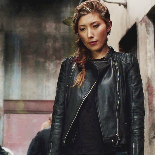 leather jacket and jawline appreciation post raven