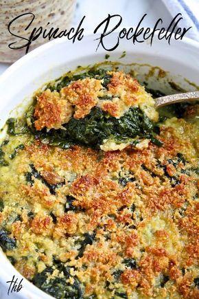 Spinach Rockefeller Casserole   the hungry bluebir