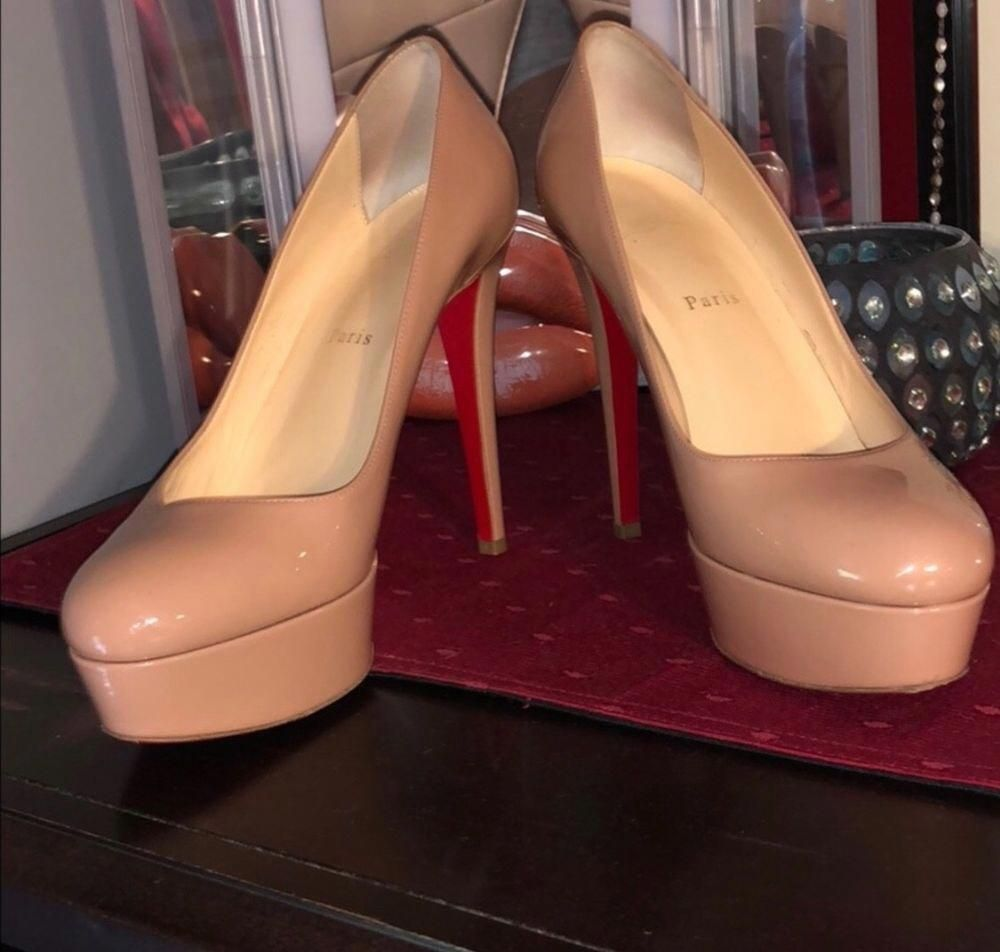 bb36f67726bc Christian Louboutin Bianca 140 - Nude - Patent Leather - Size 40  fashion   clothing  shoes  accessories  womensshoes  heels (ebay link)   ...