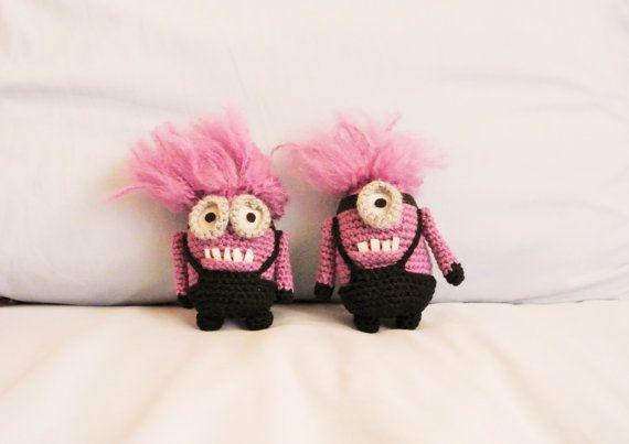 2 purple minion evil minion by inBetween2sisters on Etsy | Crochet ...