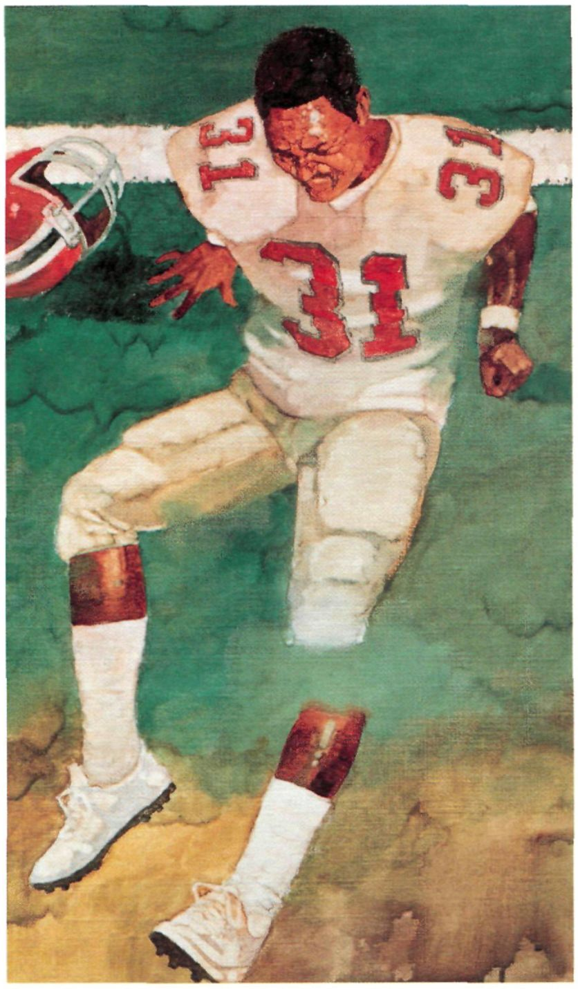 Bart Forbes Story Illustration About William Andrews Atlanta Falcons Rb For Si May 1986 Atlanta Falcons Art Atlanta Falcons Atlanta Falcons Logo