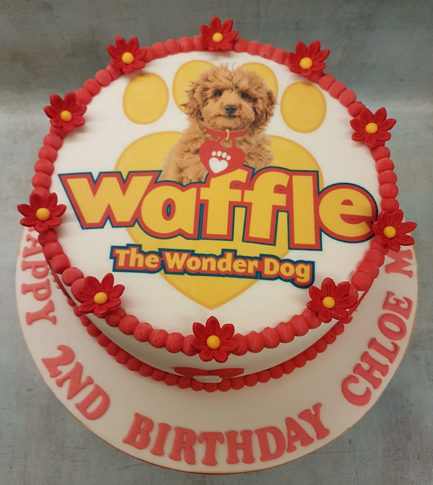 Waffle The Wonder Dog Personalised Birthday Wrapping Paper 3 Designs ADD NAME