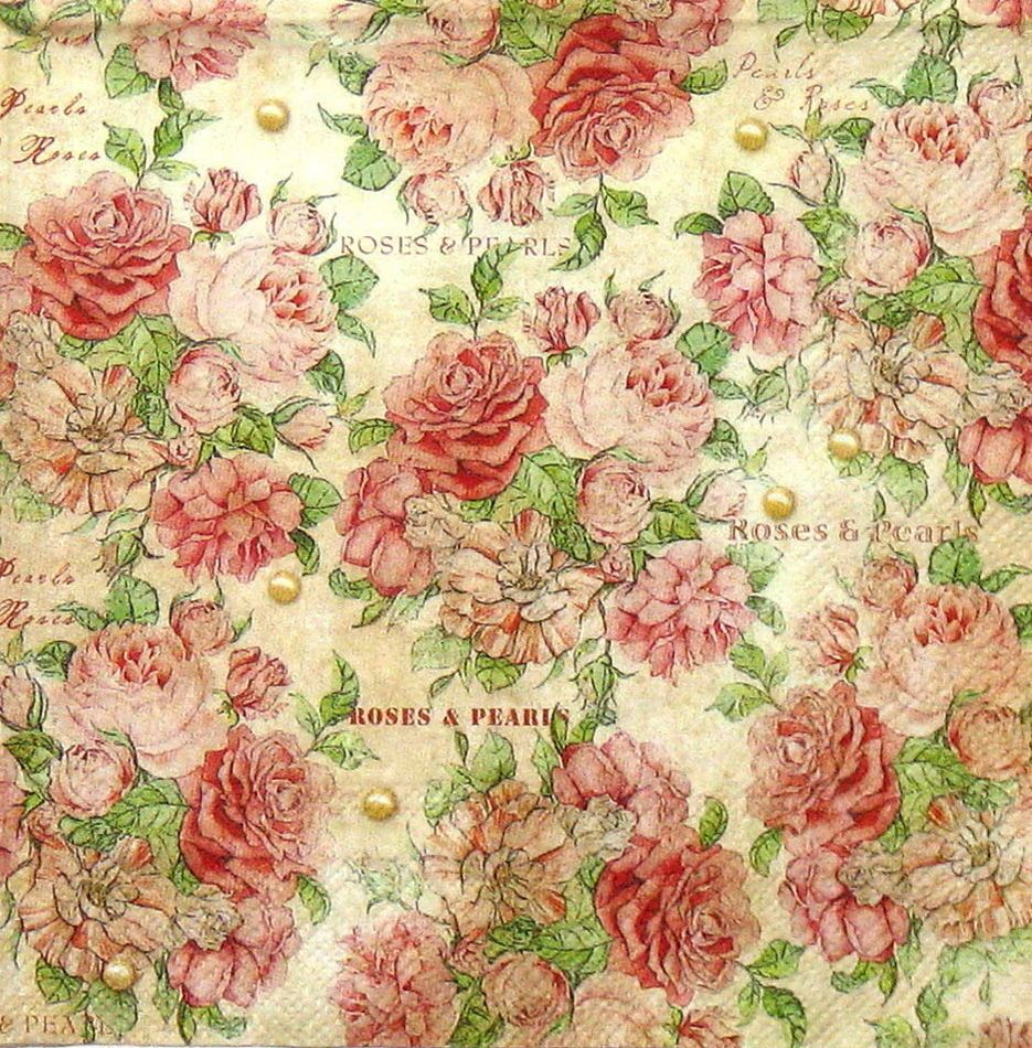 4 X Single Luxury Paper Napkins For Decoupage And Craft