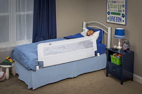with Reinforced Anchor Safe Regalo Swing Down 54-Inch Extra Long Bed Rail Guard