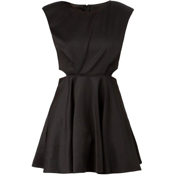 AX Paris Black Cut Out Side Skater Dress (93 ILS) ❤ liked on Polyvore featuring dresses, vestidos, short dresses, cut-out dresses, cutout dresses, fit and flare cocktail dress, special occasion dresses and cut-out skater dresses