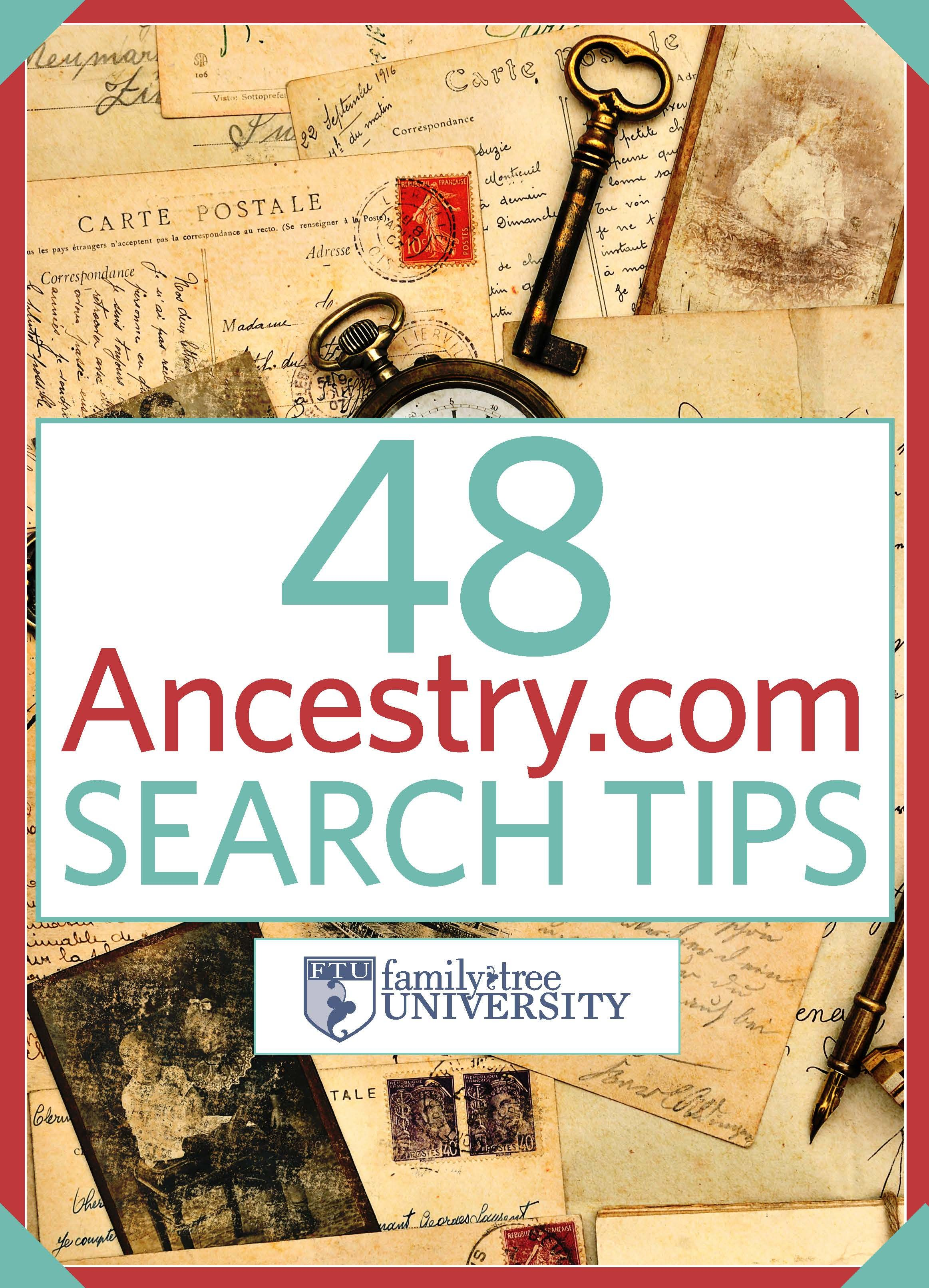 Free E Book 48 Ancestry Search Tips