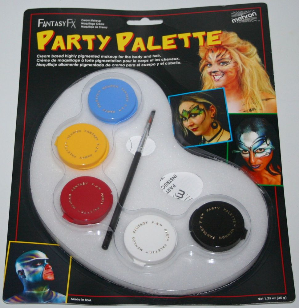 Mehron Fantasy FX Party Palette face paint makeup kit