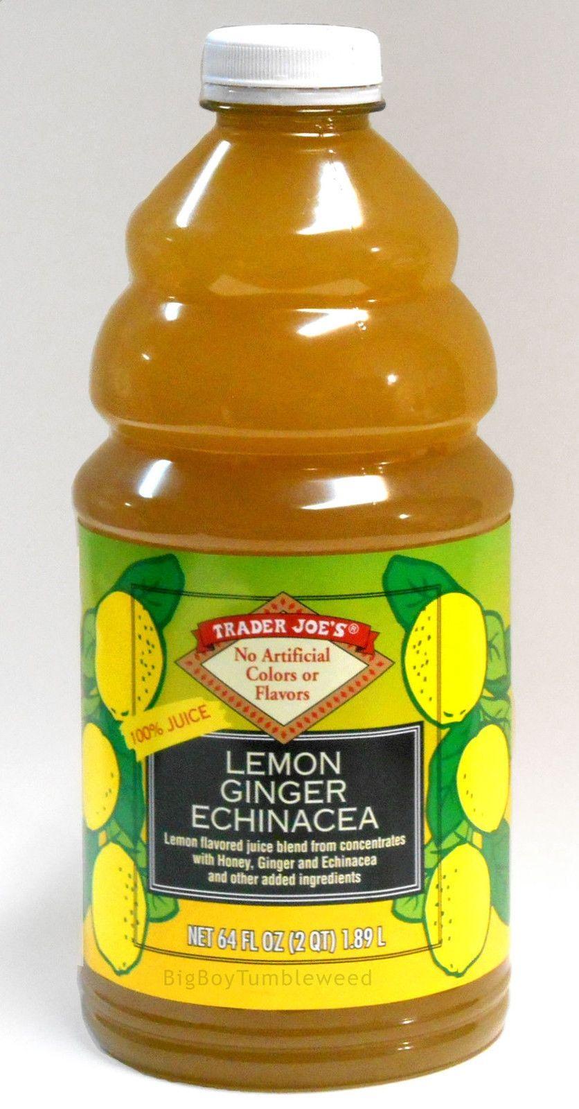 TraderJoes 100% Juice #Lemon #Ginger #Echinacea drink 64 oz fruit