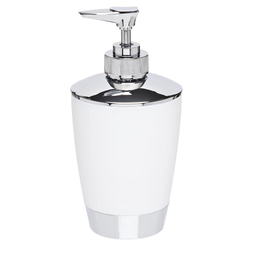 Soap Dispenser White and Chrome Effect | Pinterest | Chrome