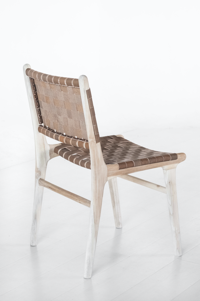 Woven Leather Strap Dining Chair Saddle Dining Chairs Side Chairs Dining Leather Side Chair