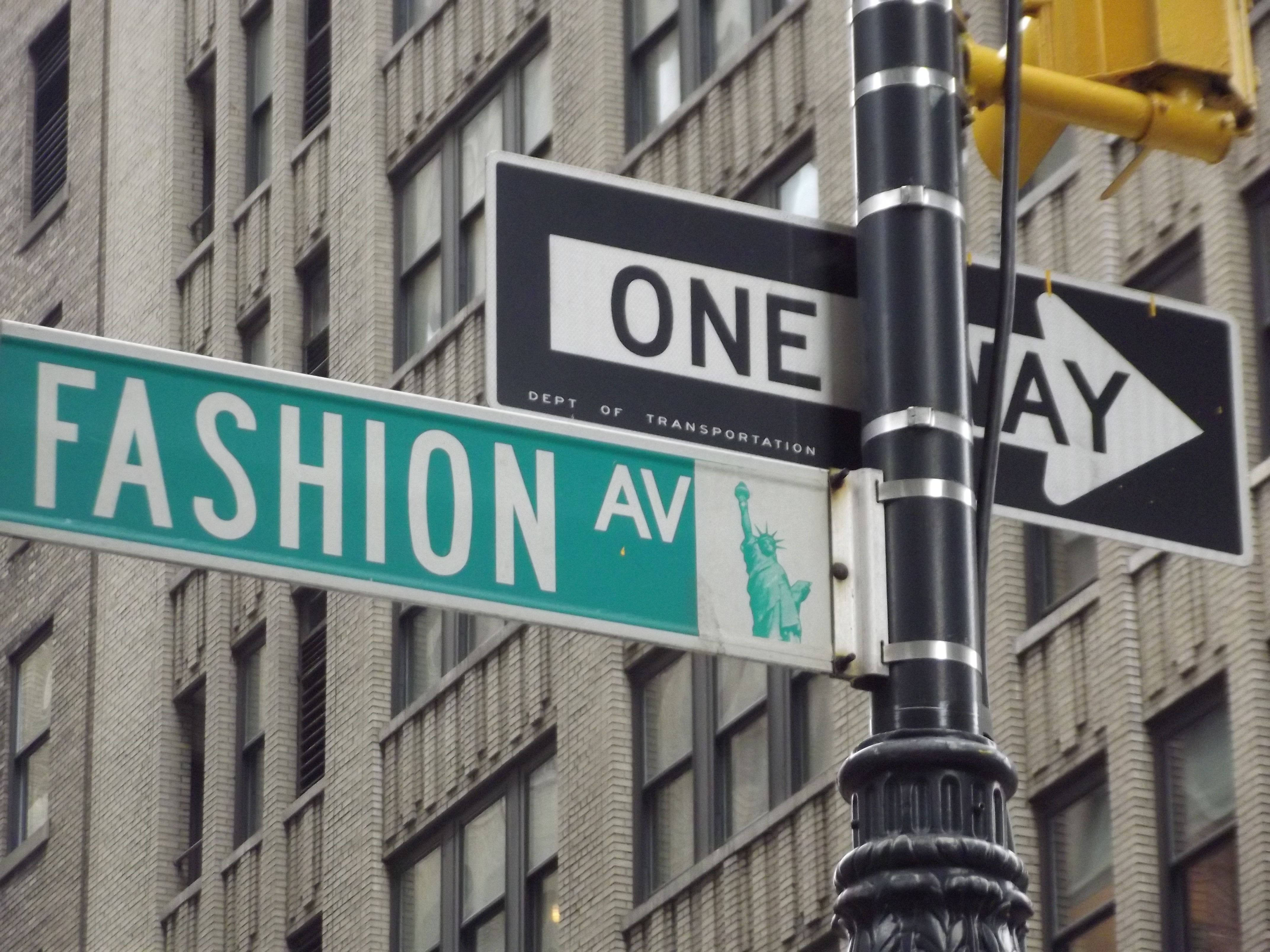 Fashion avenue street sign 83