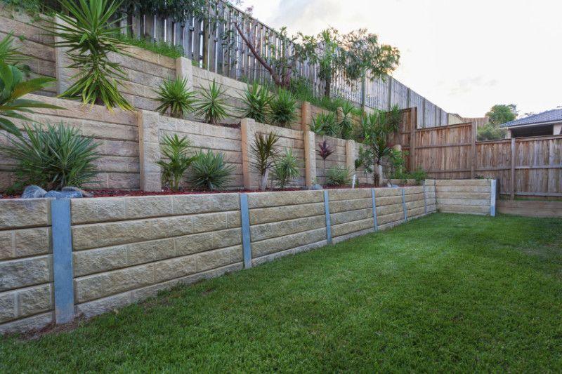 Landscape Blocks On A Slope : Garden and backyard retaining walls gardens backyards