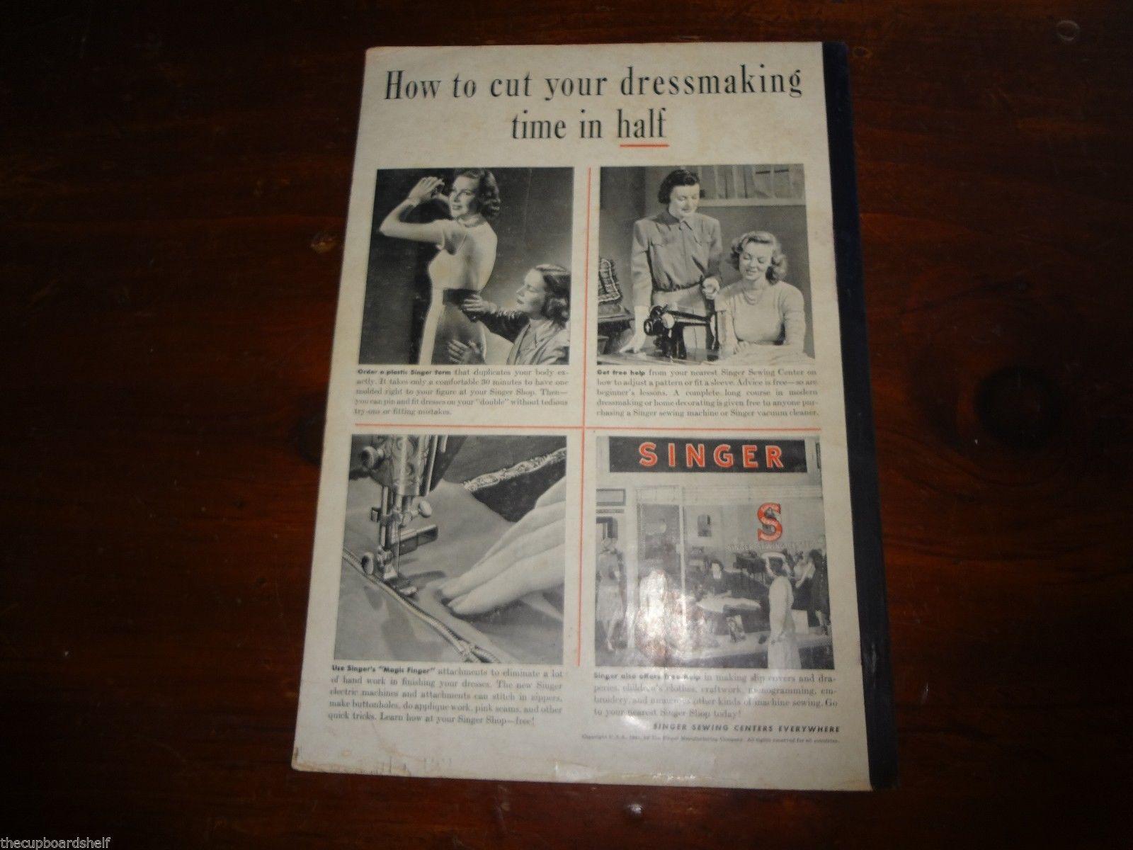 Vintage us us short cut home sewing booklet lot singer dubarry
