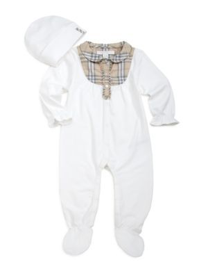 dda793be1e6 Burberry - Infant s Three-Piece Check Coverall