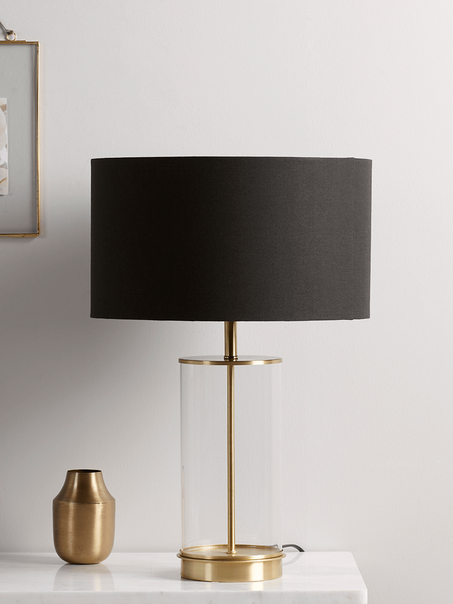 Brass Black Glass Table Lamp Glass Table Lamp Black Table Lamps Ceramic Table Lamps