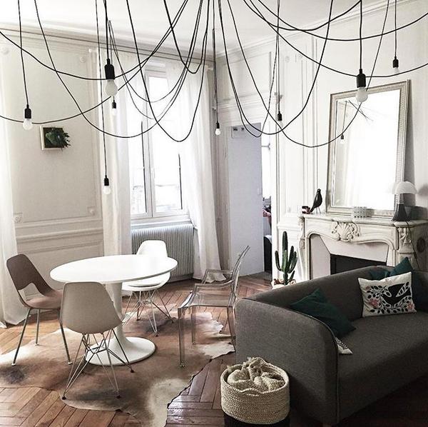 suspension modulable maman de 14 ampoules led par seletti pinterest ampoules led plafond. Black Bedroom Furniture Sets. Home Design Ideas