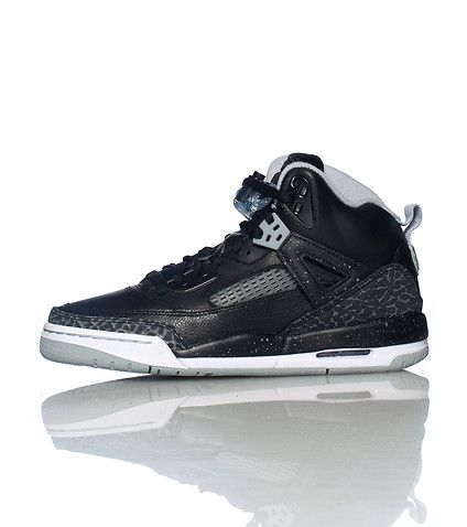 promo code 1099f 0ac08 JORDANS Lace up Mid top sneaker JORDAN logo on tongue Clear lace lock Spike  Lee inspired