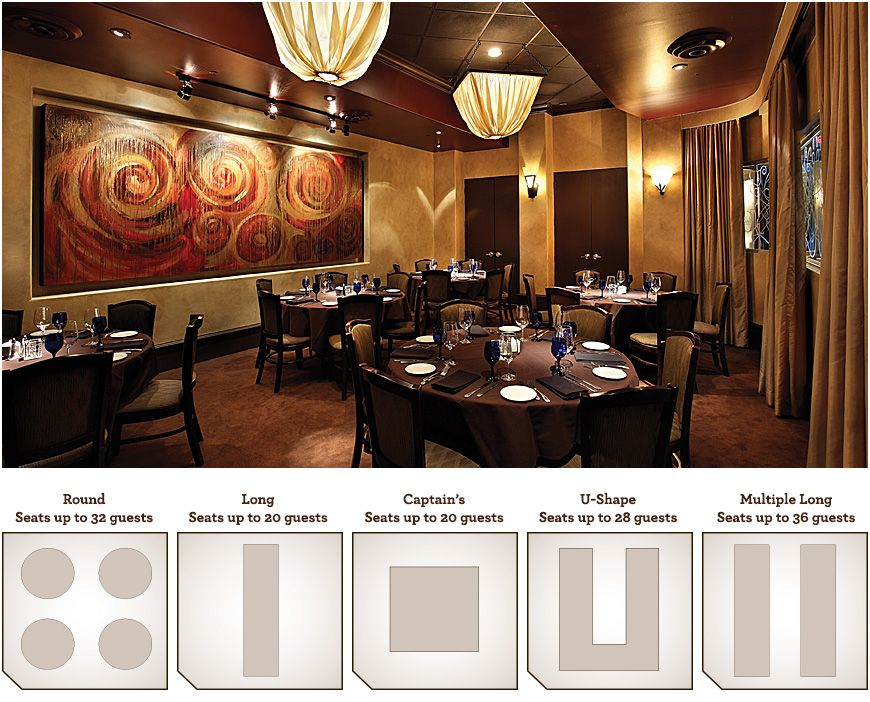 Memorial City Location – Back Gallery Room, Seats up to 36 guests