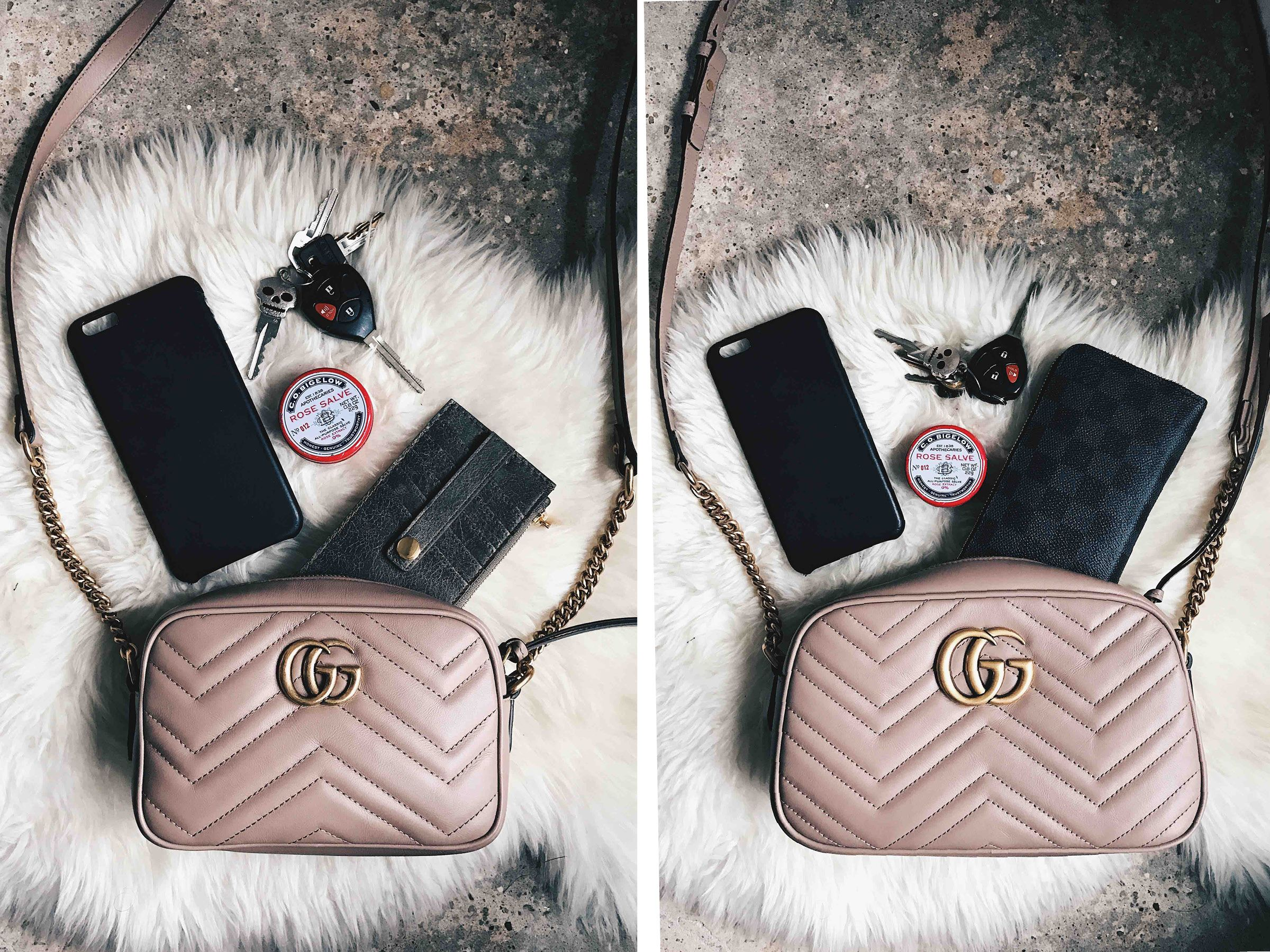 8bbb62046 DTKAustin shares the size comparison for the Gucci Mini and Small Marmont  Crossbody. If you're in the market for a new Gucci bag click here for more  ...