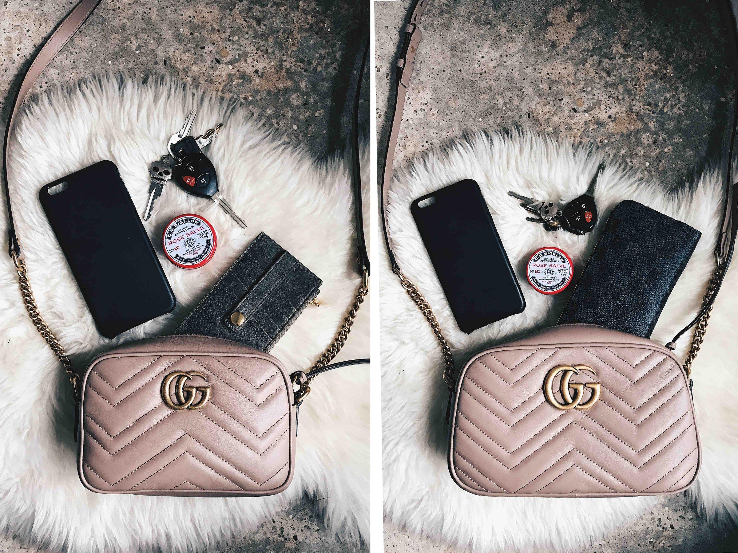 076241e778 Size Comparison of the Gucci Marmont Mini & Small Crossbody | To ...