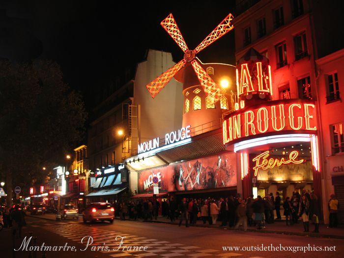 Moulin Rouge, 90 Boulevard de Clichy, Montmartre, Paris, France.