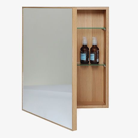 mirror cabinet light oak by wireworks monoqi bestofdesign britishdesign badezimmer. Black Bedroom Furniture Sets. Home Design Ideas