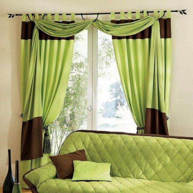 cortinas verde con blanco   Buscar con Google | Cortinas