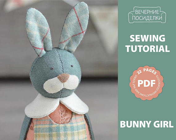 Pdf Bunny Girl Sewing Pattern Sewing Tutorial Rabbit Pattern