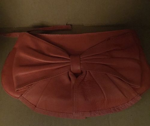 Purse Clutch Ted Baker Small Coral Matte  Leather With Large Now