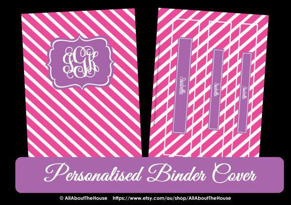 printable monogram binder cover
