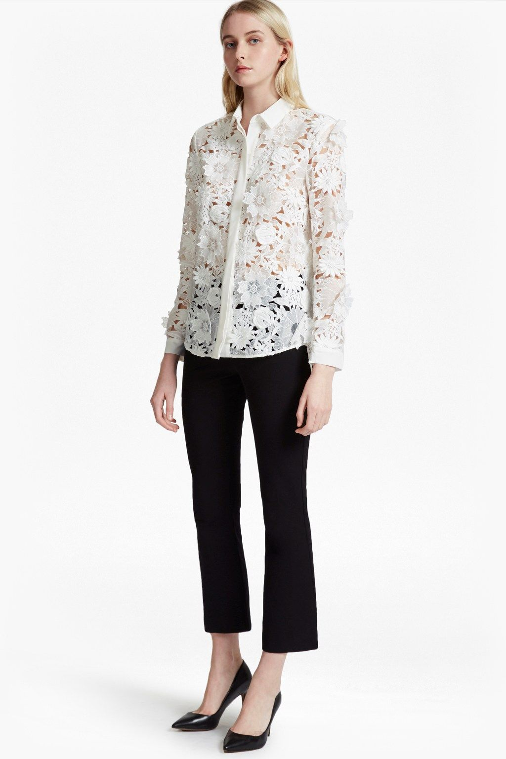 5b289b2c9758c Manzoni 3D Floral Lace Shirt | Blouses Shirts | French Connection Usa