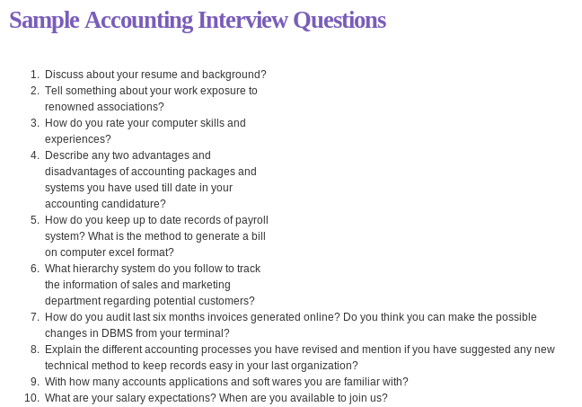 Amazing Discuss About Your Resume And Background? Find This Pin And More On Accounting  Interview Questions ... Ideas Accounting Interview Questions