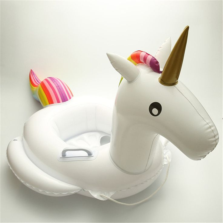 1 Pc Unicorn Design Swim Ring for Baby and Kid Pool
