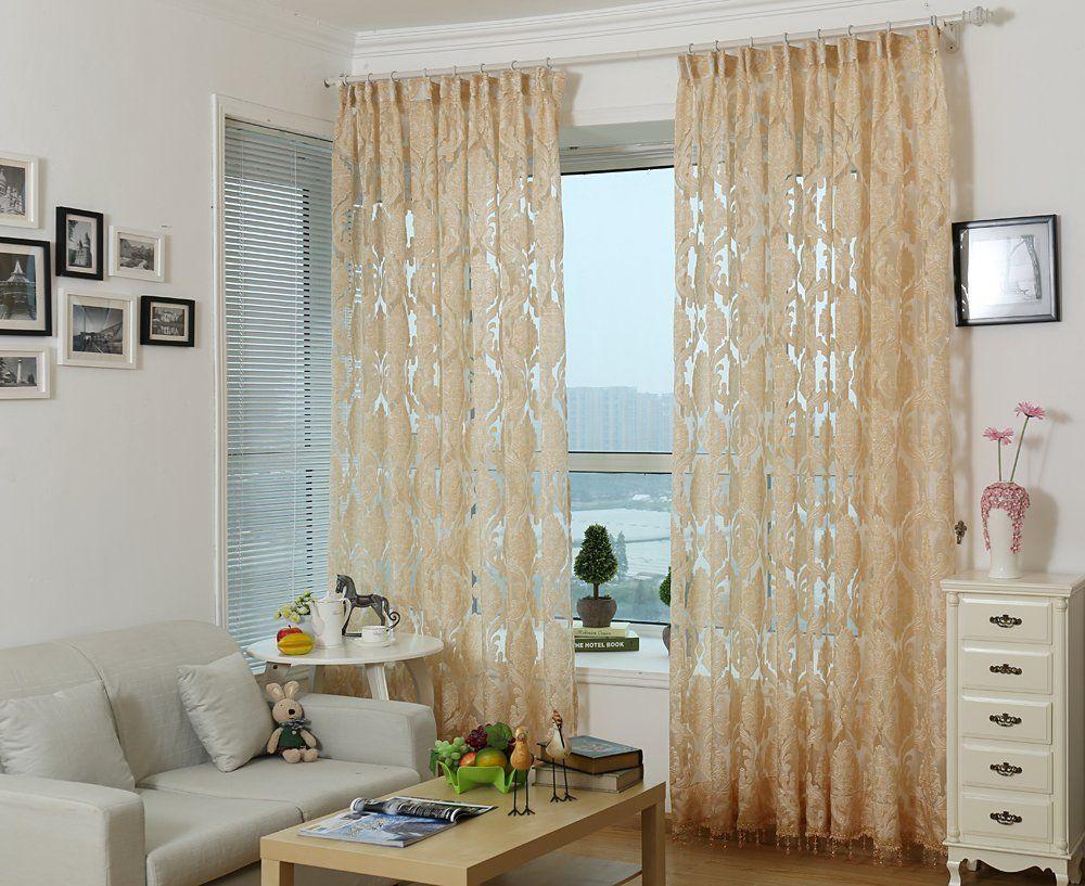 Dmc475 Sheer Curtain Panels 60 X 100 Inch Tall Window Treatments