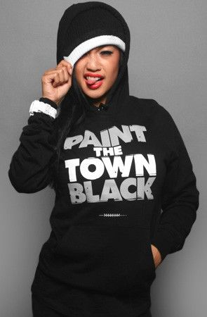 finest selection 45adc 2d80b Paint The Town Black (Women's Black Hoody) | Raaaiderrrs ...